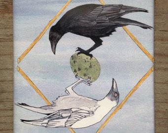 Mirror Crow Magnet