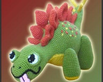 Amigurumi Pattern Crochet Coco Stegosaurus Dinosaur DIY Digital Download