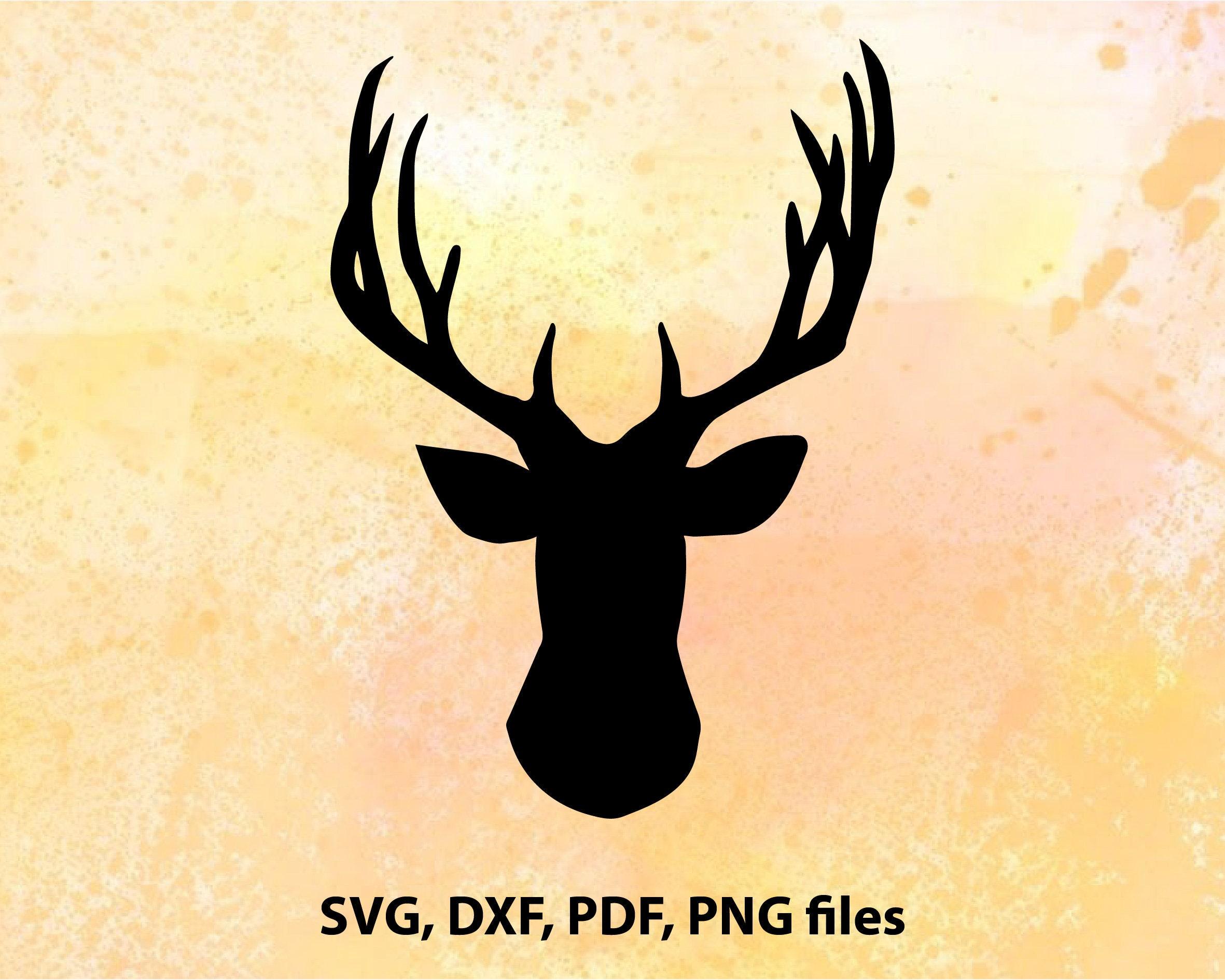 Deer svg Deer head dxf Deer clipart Deer head silhouette