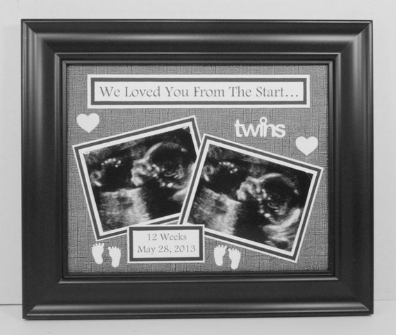 Twins Ultrasound Sonogram Frame I/We Loved You From The