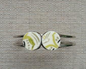 Modern dinner plate jewelry hinged bracelet broken china