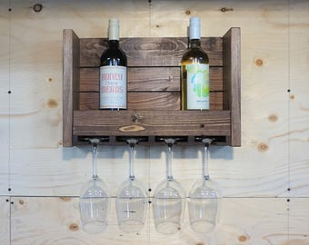 Rustic Wine Rack//Gift for Her//House Warming//