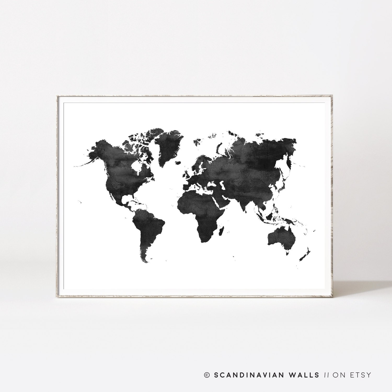 World map poster water color world map world map print zoom gumiabroncs Gallery