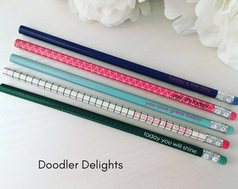 SALE Pencil set, inspirational pencils, pencils with quotes, pencil set