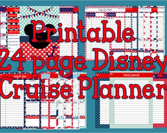 Printable Disney Cruise Planning Binder, Binder Cover, Journal, Itinerary, Mickey Mouse Instant Download