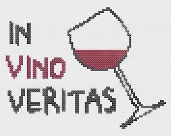 In Vino Veritas Cross Stitch - Pattern