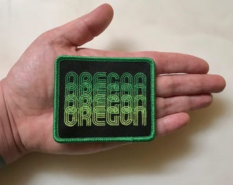 Seasons K Designs Oregon Fade Embroidered Patch