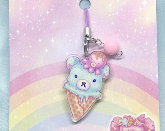 Mint Bearcone Keychain / Cell Phone / DS Charm