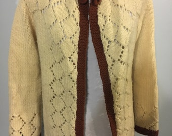 1970s hand knit sweater
