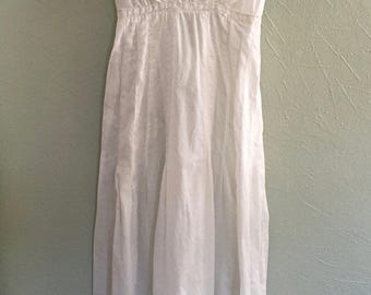 Victorian White Cotton Lawn Wedding Bridal Dress Lace Bodice and Inserts Size Small   Gorgeous