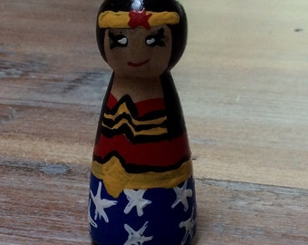 Hand painted peg doll