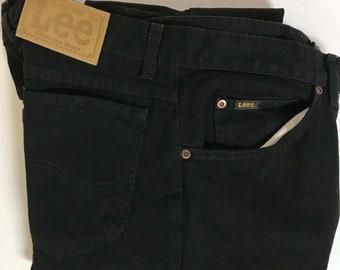 Men's Vintage 90s LEE Genuine Black Jeans Sz 32x36 USA Deadstock Hipster