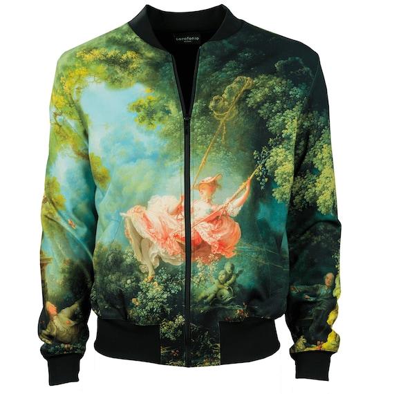 vintage 4xl clothing men front unique Fragonard jacket design men bomber art creative jacket bomber artistic wearable swing women zip women qAddZXcw