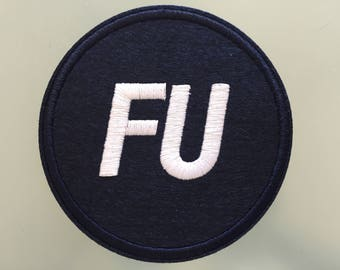 """FU FRANK UNDERWOOD President - Embroideed Iron On Patch - 3"""" - House of Cards"""