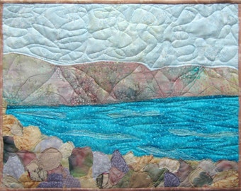 Holy Land Landscape Quilt Art Wall Hanging