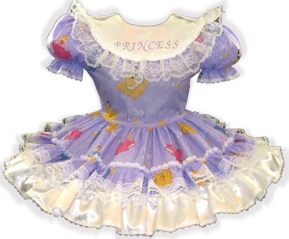 Adult CUSTOM Glitter Sarah Princess Girl Fit Dress Little LEANNE Sissy qwxISwd