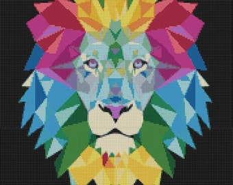 Lion Cross Stitch Pattern Instant Download