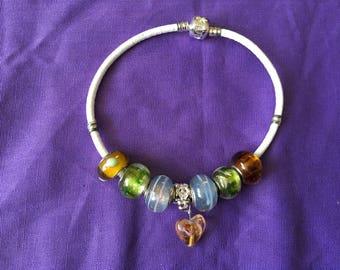 Pandora style bracelet multi colour.