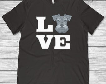 Love Schnauzer Shirt • Schnauzer Gift • Schnauzer Dog • Schnauzer Art • Schnauzer Lover • Miniature Schnauzer • Schnauzer Mom Or Dad