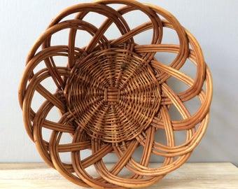 woven rattan basket / planter