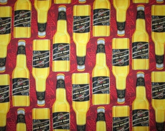 Millers Geniune Draft Realistic Beer Bottles Cotton Fabric Fat Quarter Or Custom Listing