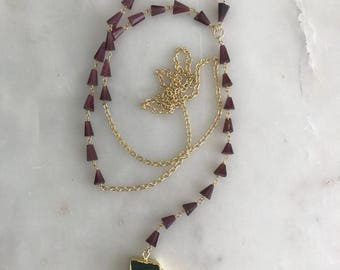 The Cabernet Rosary Necklace
