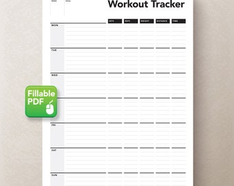 Workout Planner, Fitness Tracker, Exercise Log, Fitness Journal, Training Jounal, Workout Journal, Fitness Planner, Workout Tracker