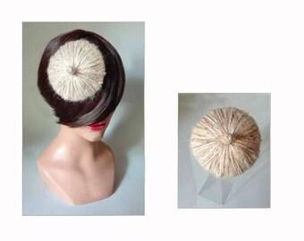 Pillbox hat design, wool bridal fascinator, fascinator Hat women wedding Hütchen wedding Hut, barrette