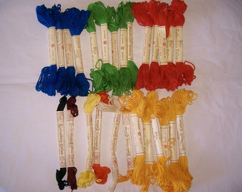 26 vintage STAR Cotton Embroidery floss / skeins