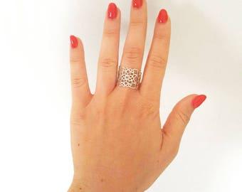 Mandala Ring, Mandala Jewelry, Boho Ring, Boho Jewelry, Spiritual Ring, Spiritual Jewelry, Sacred Geometry Ring, Sacred Geometry Jewelry