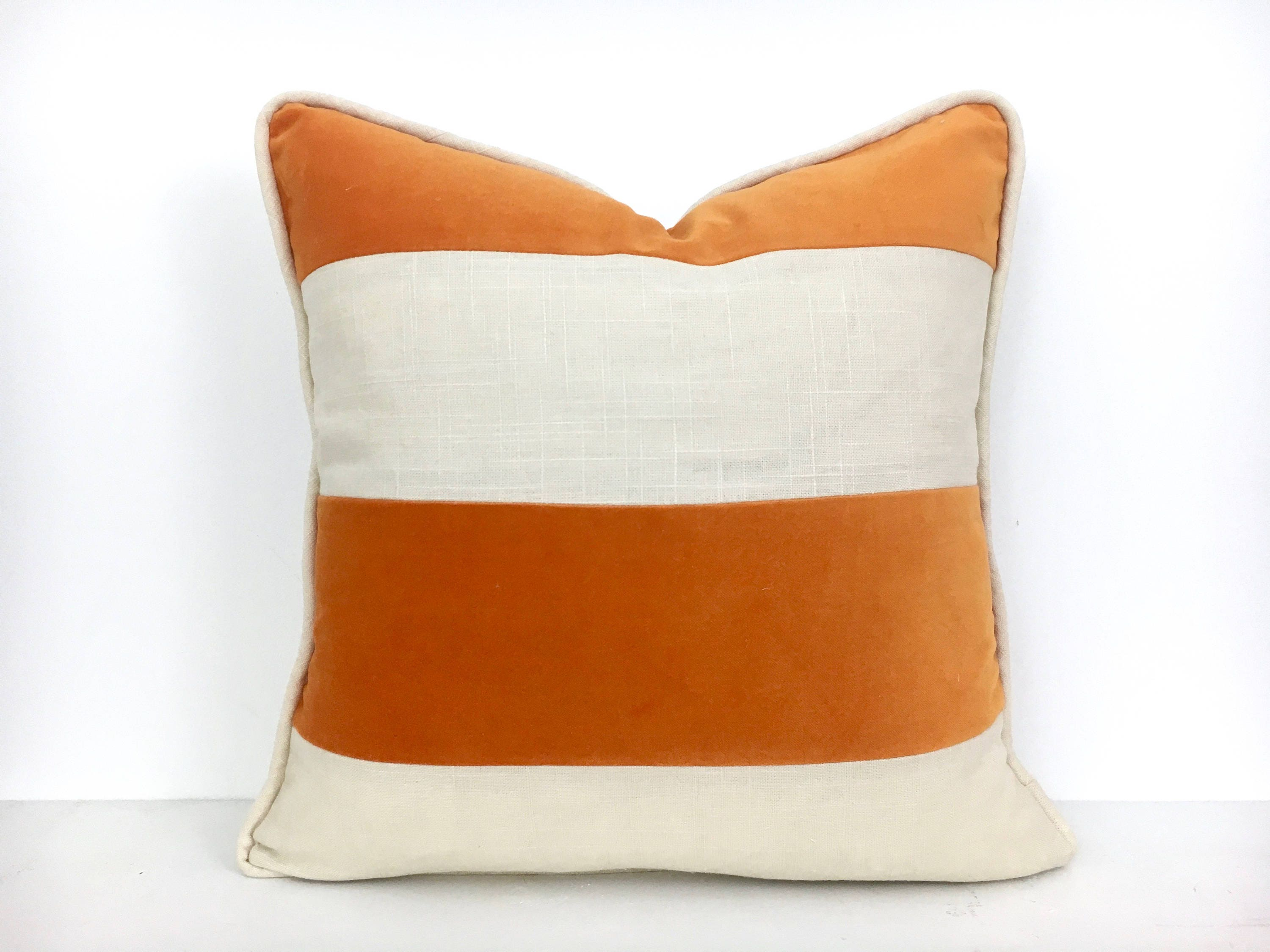 decorative cover il orange lumbar zoom listing fullxfull pillows outdoor pillow