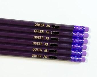 Queer as F*ck Pencil Set