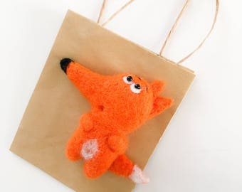 felted fox toy brooch Fox jewelry Fox accessories Fox creative gift Fox toy decor Felted fox art Fox pin Fox toy gift Mother day gift mum