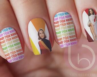 Mary Tyler Moore,Nail Decal, Waterslide Nail, Nail Sticker, Nail Art