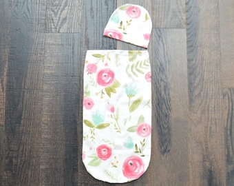 Swaddle Cocoon, Swaddle Sack, Swaddle, Floral Swaddle Cocoon, Floral Swaddle, Baby Cocoon