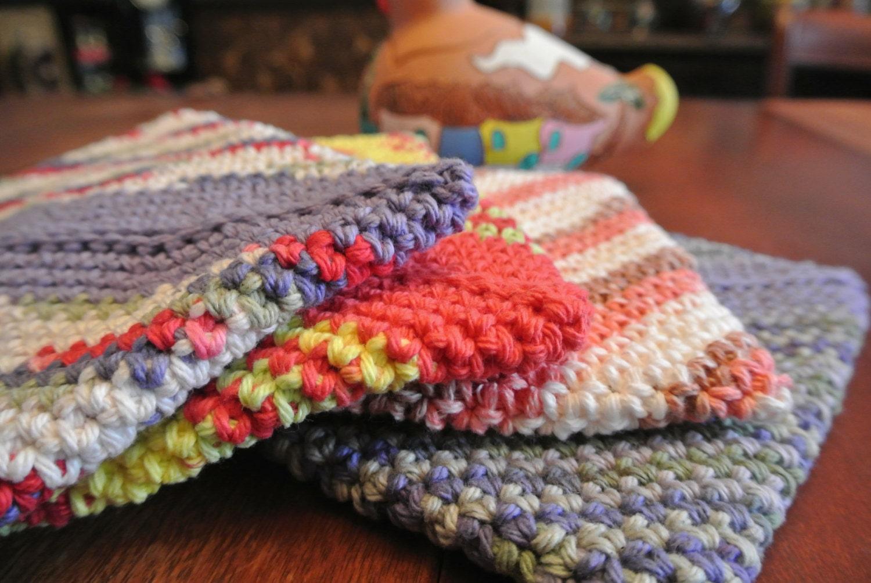 Diagonal Crochet Potholder Pattern - PDF DOWNLOAD ONLY; Double Thick ...