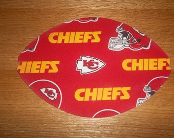 Mouse Pad, Kansas City Chief's, Mouse Pads, Mousepad, Desk Accessory, Mouse Mat, Office Decor, Football Shape, Computer Mouse Pad, Gift
