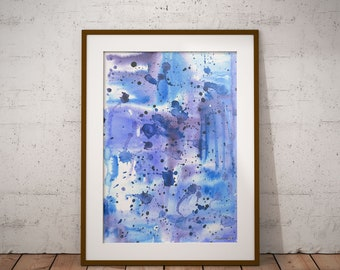 Abstract Watercolor Blue Abstract painting ORIGINAL watercolor painting Modern Art Blue abstract art Modern painting