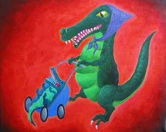Crocodile Tears - Original Acrylic Painting