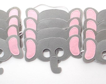 Elephant Masks - Party Pack - 12 Masks - Kid's Mask - Elephant - Mask - Dress Up - Play - Costume - Party Favor - Dress Up - Halloween