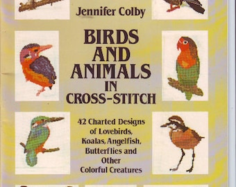 Birds and Animals Dover Needlework Counted Cross Stitch Leaflet From 1983
