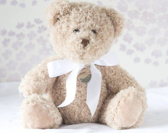 Bramble Christening Bear With Personalised Tag
