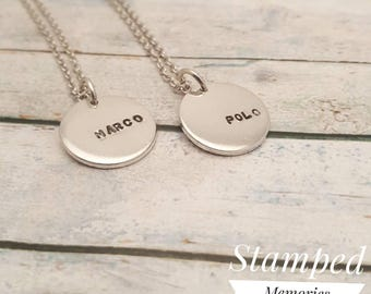 Best friends necklace - Marco Polo Necklace - bff chains - two of a kind necklace - best friend necklaces