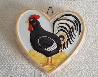 1980's Sigma Tastesetter Andrea West Rooster Heart Kitchen Mold