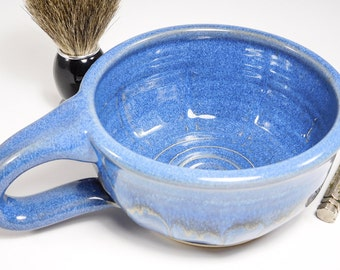 Wet Shave Pottery - Pottery Shaving Mug - Pottery Shaving Dish - Wet Shaving Dish - Wet Shaving Pottery - Wetshave Ceramic - In Stock