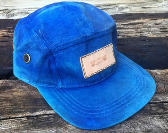 5 Panel waxed duck canvas hat