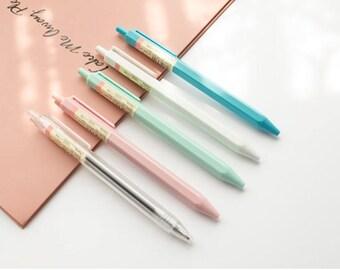 Cream Color Gel Pen - Kawaii Pens, Cute Stationery, pen,MUJI pens