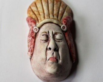 Porcelain Wall Hanging Small Face