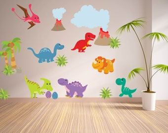 Wall Decals for KidsBedroom - Dinosaur Wall Decal - Tree Decal- Dino Wall Decal - Boys Room Decal - Dinosaur Nursery - Kids Room Decal