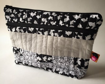 Double zippered Bunny Pouch